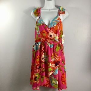 Gianni Bini Flowerworks Wrap Mini Dress NWT
